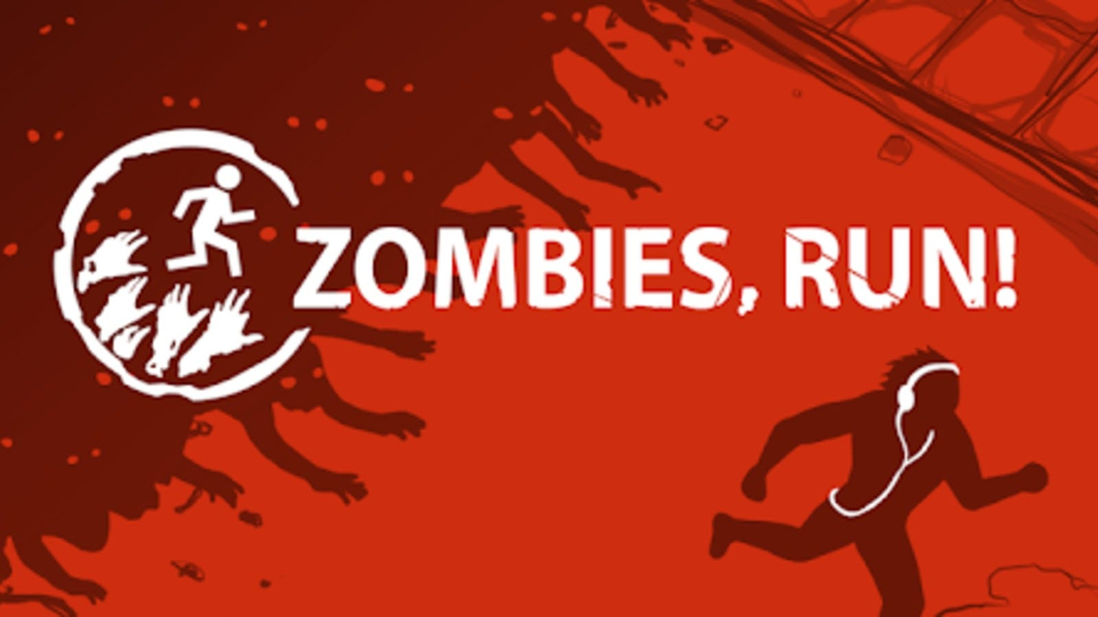 graphic of someone jogging from zombies