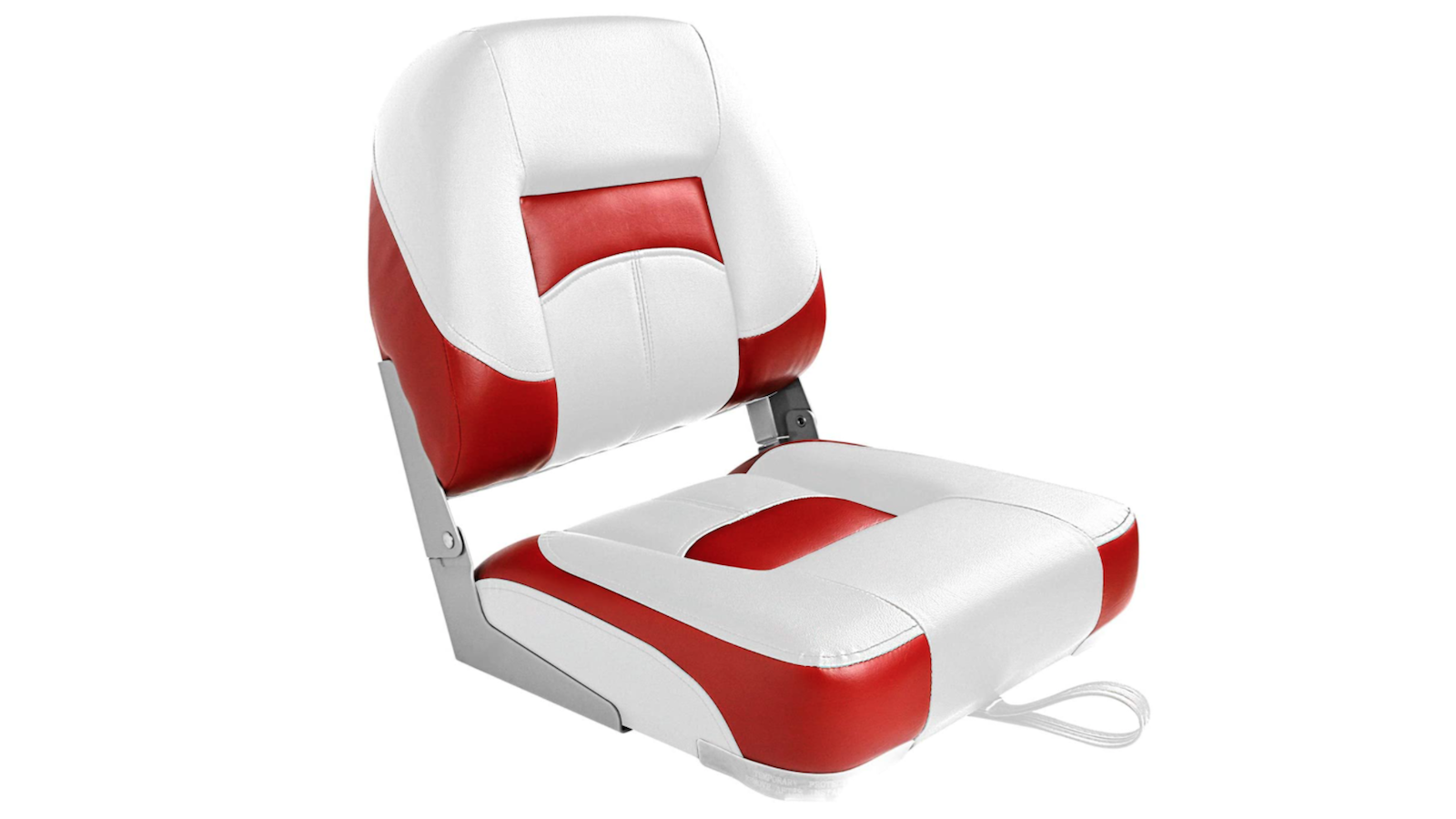 plush white and red boat seat