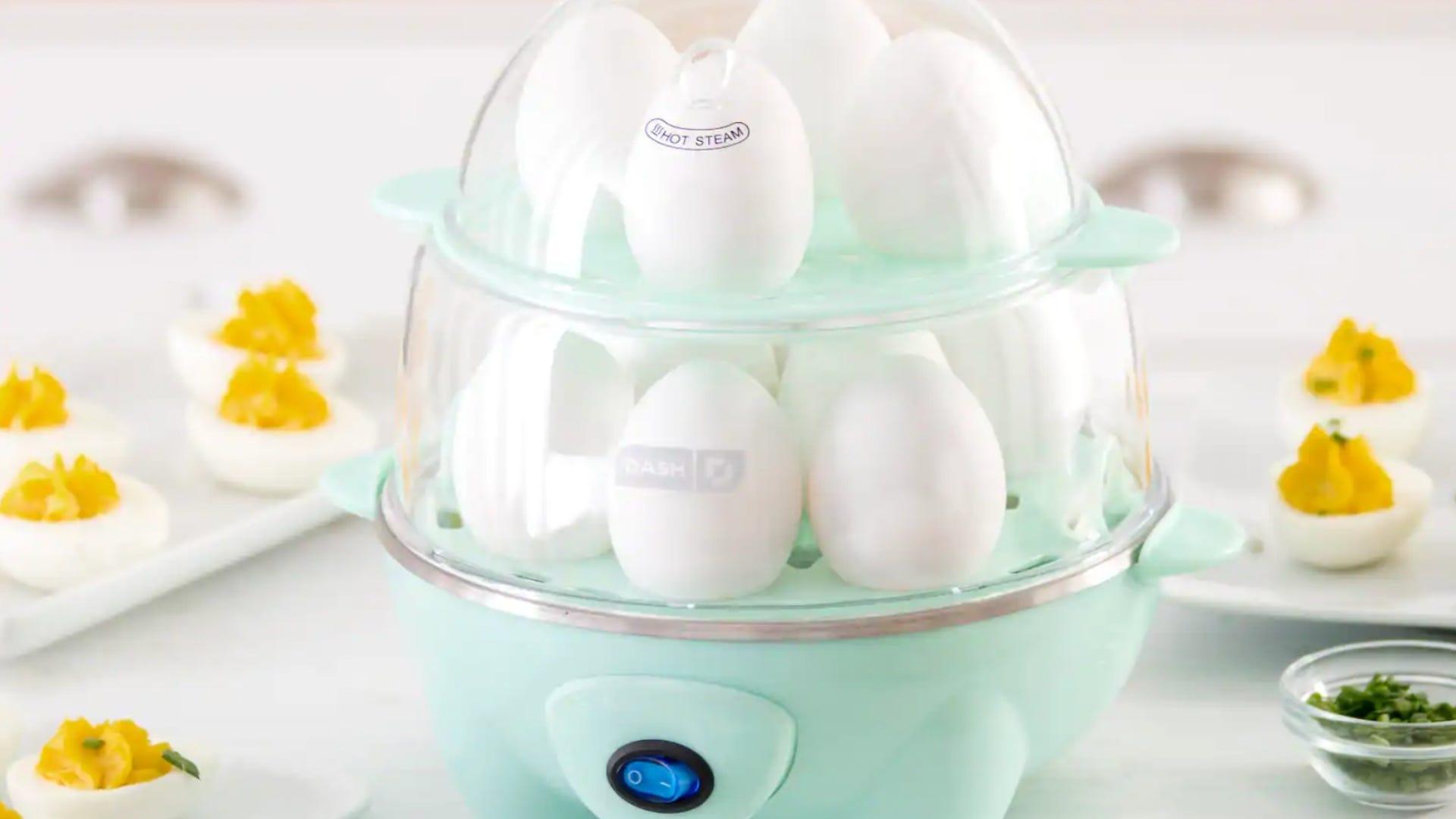 Double-decker egg cooker
