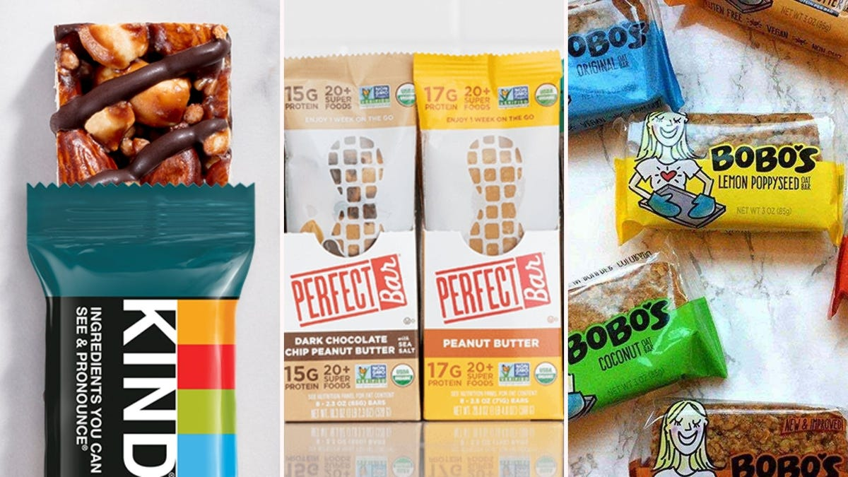 An assortment of gluten-free snack bars.