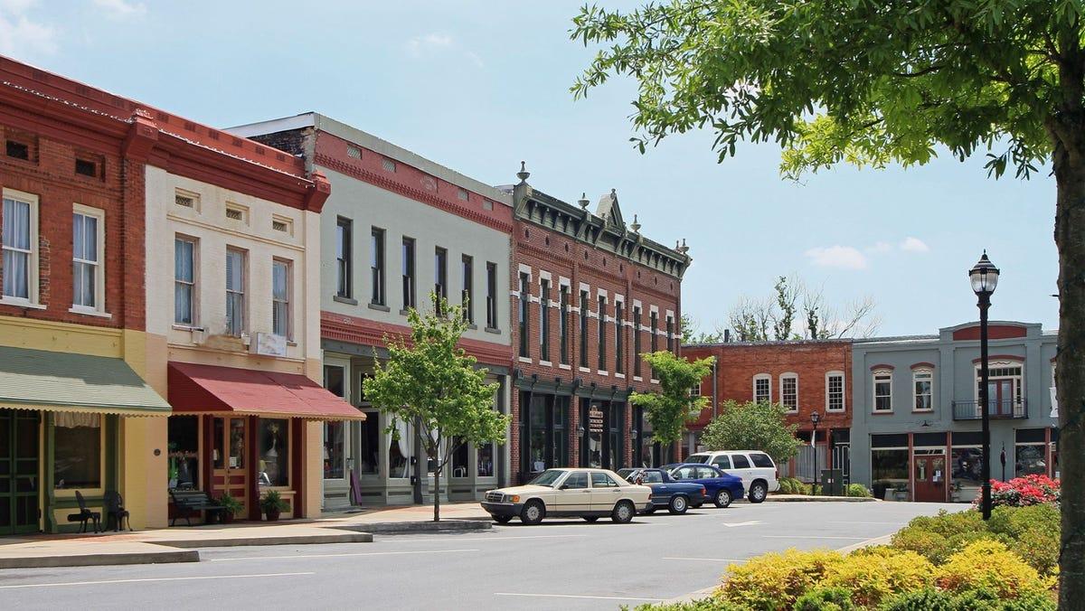 Downtown Adairsville, Georgia.