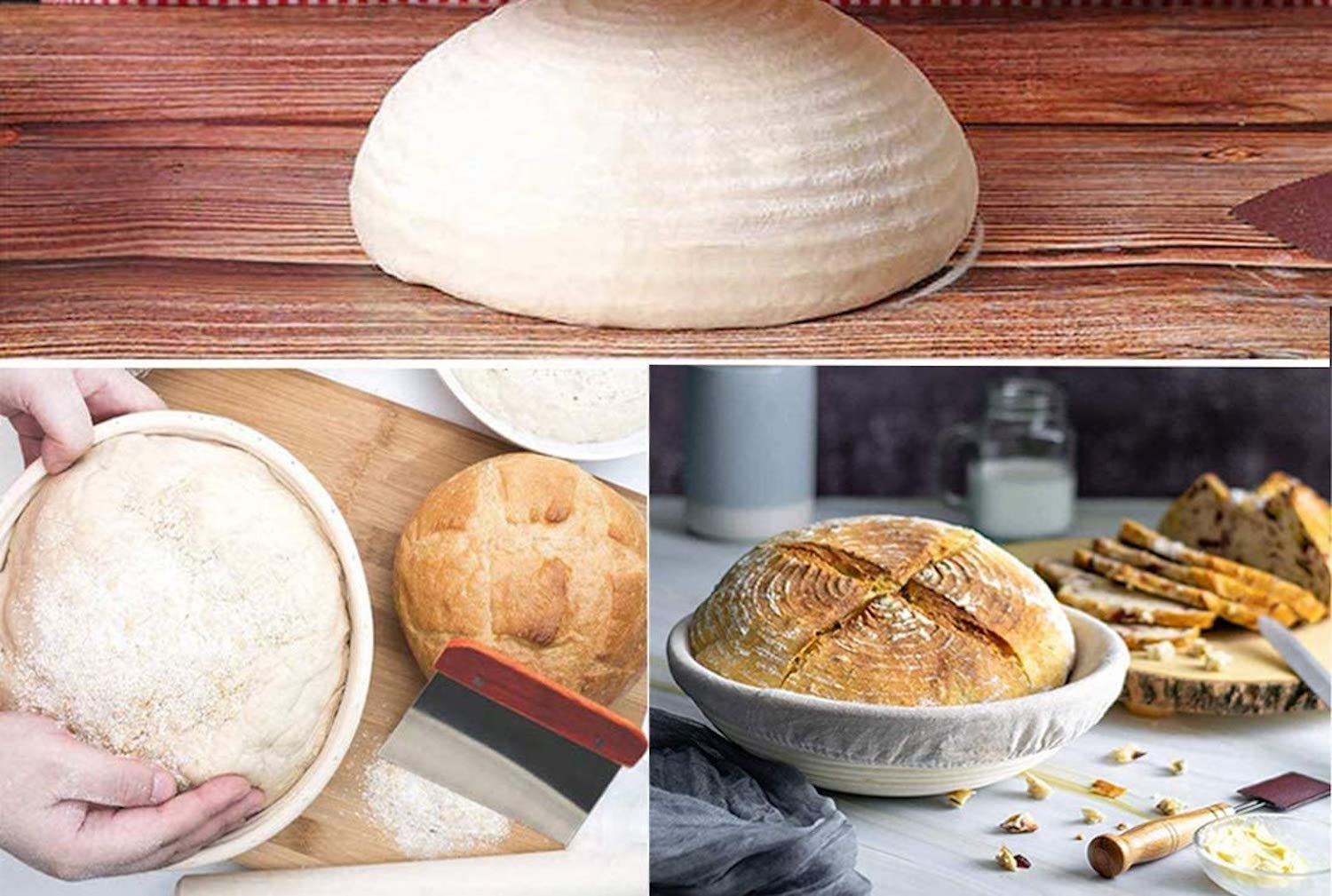Someone making sourdough bread with the ttmagic Sourdough Bread-making Kit.