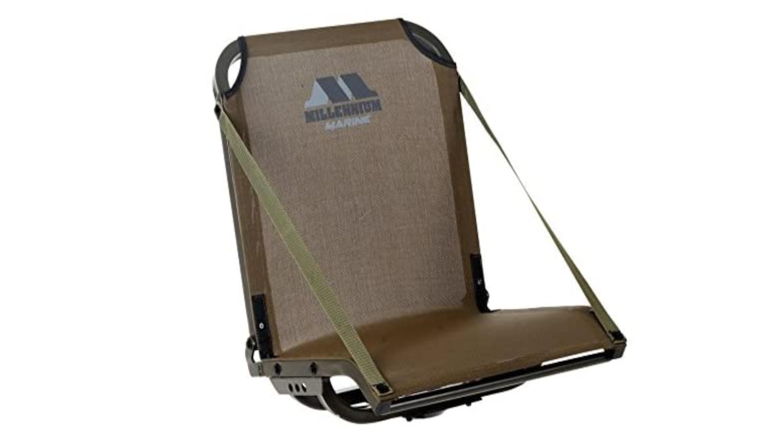 foldable tan boat seat