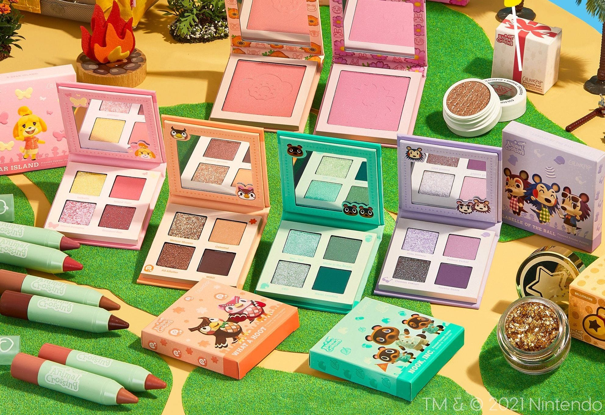 "The ColourPop ""Animal Crossing"" Makeup Collection."