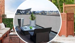 Turn Your Apartment Balcony into a Secluded Paradise