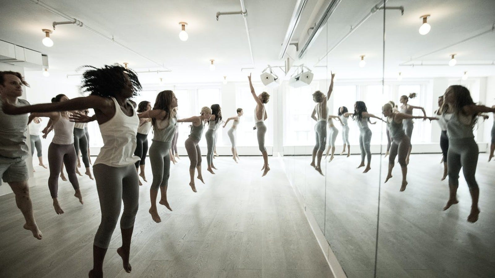 workout class in studio