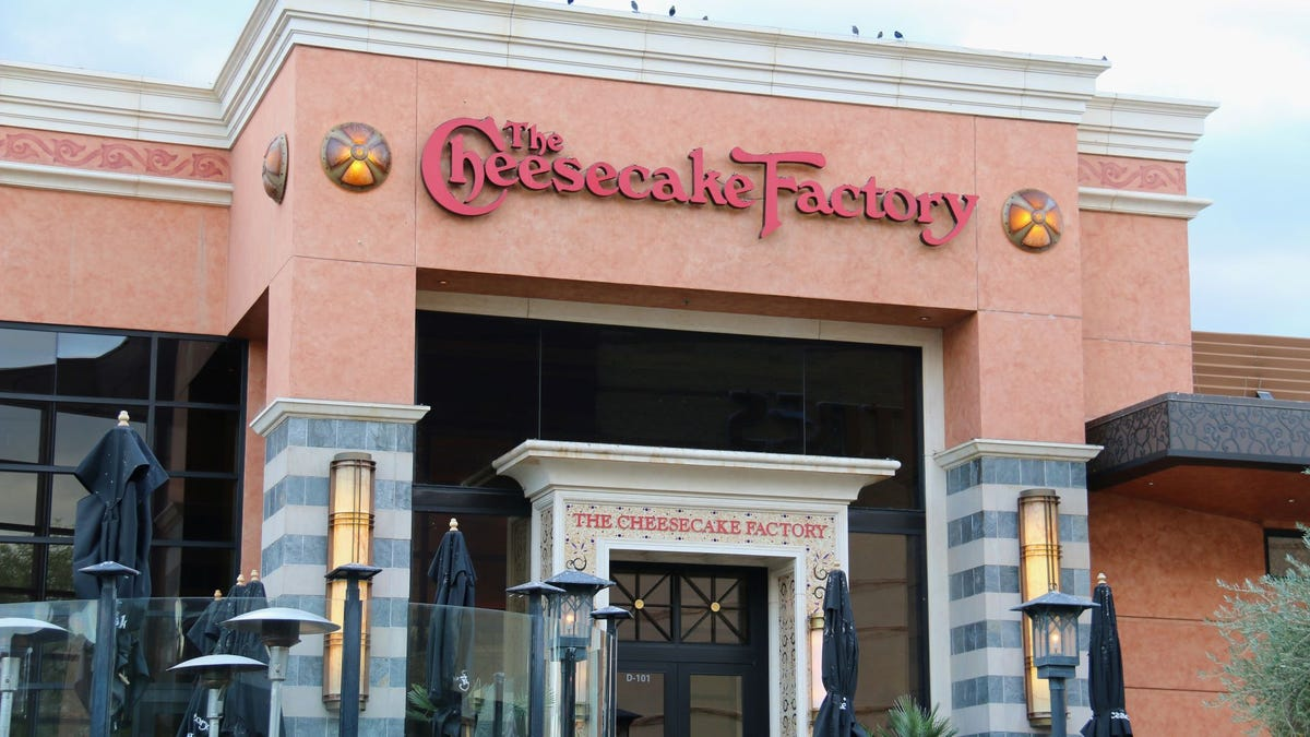 The front of The Cheesecake Factory restaurant.
