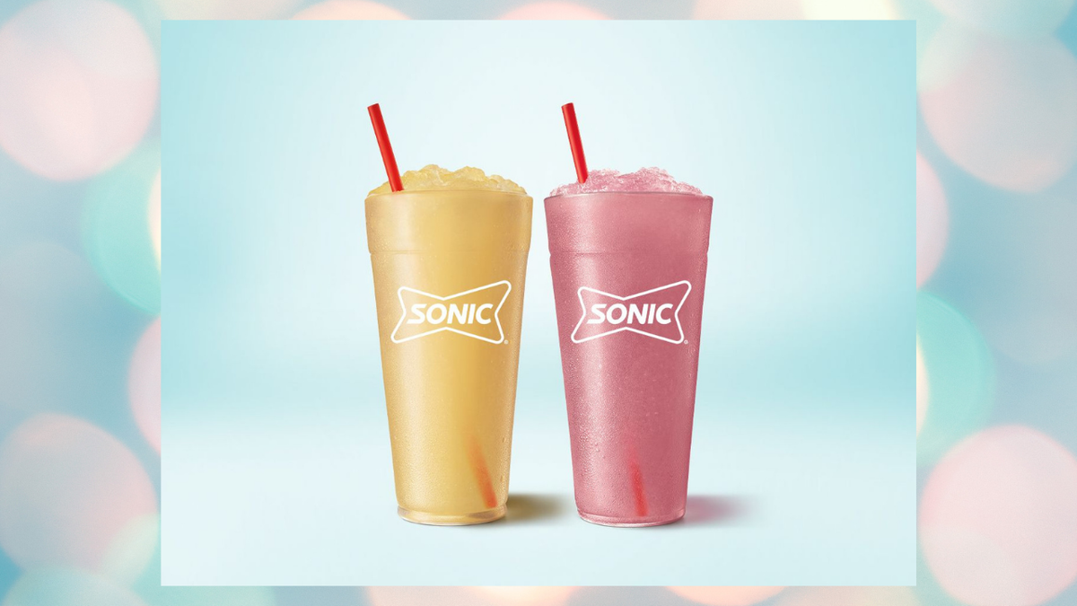 The Sonic Red Bull and Dragon Fruit Slushes.