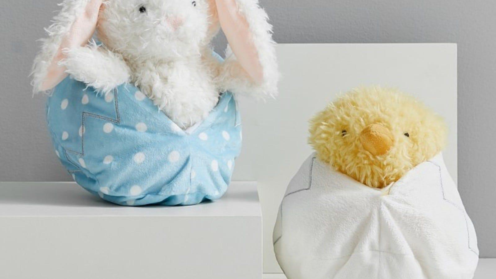 plush bunny or plush chick