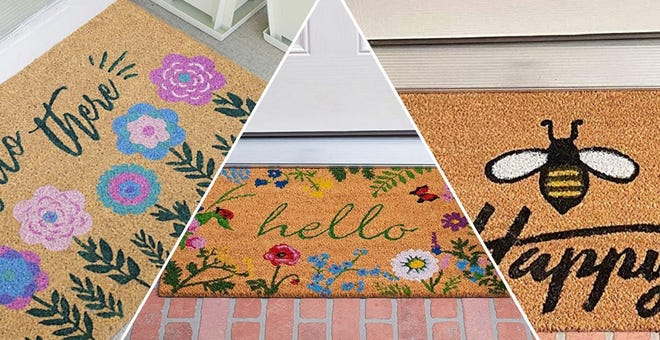 Welcome Spring (and Guests!) with These Adorable Doormats