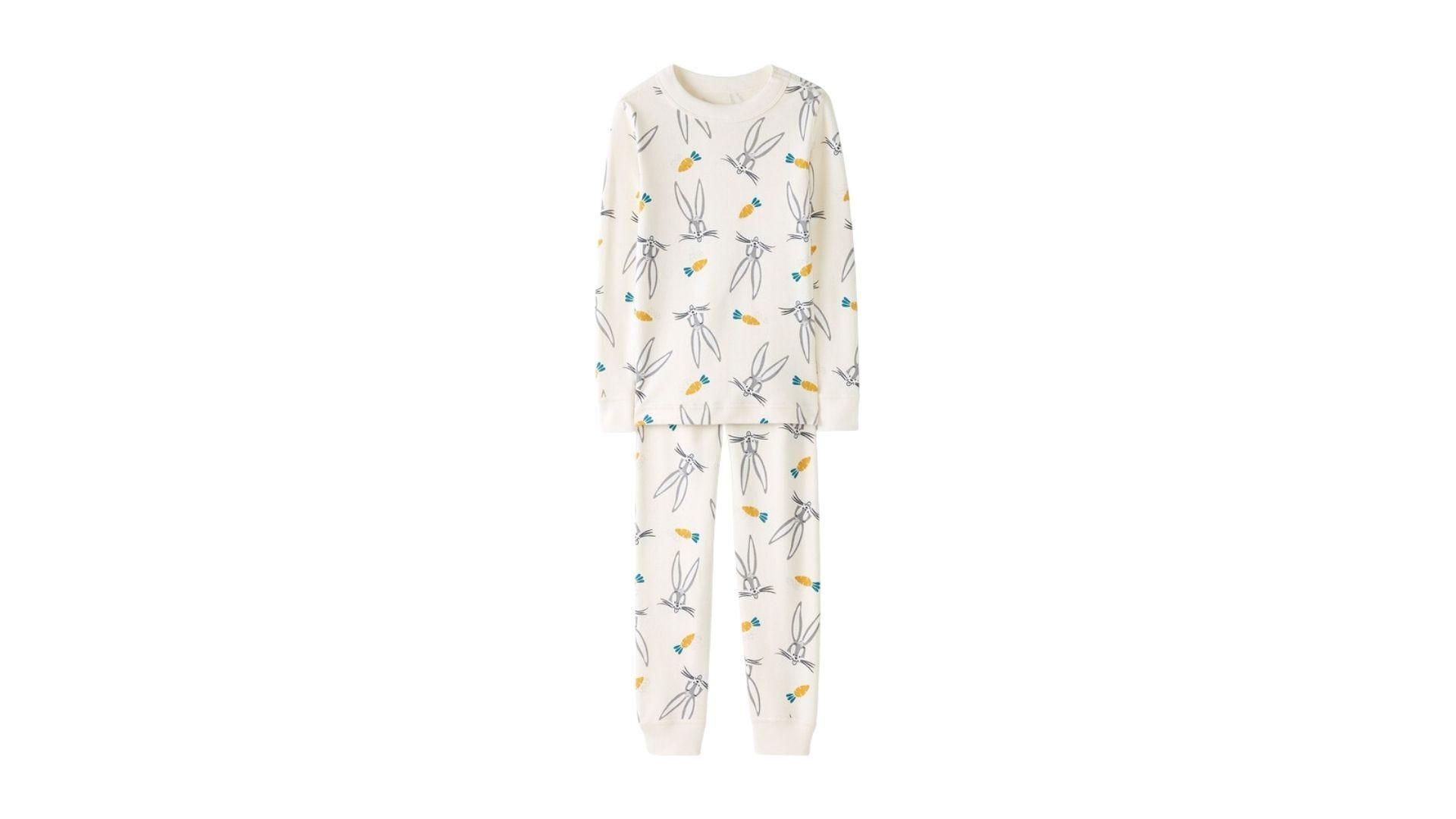 bugs bunny patterned pajamas