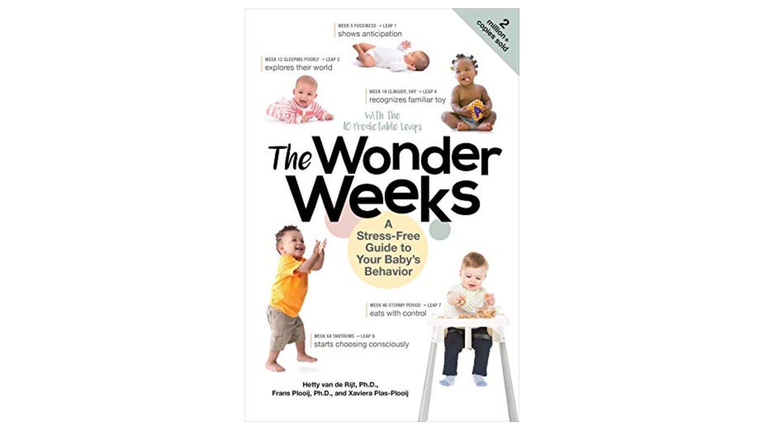 copy of The Wonder Weeks books featuring photos of different babies