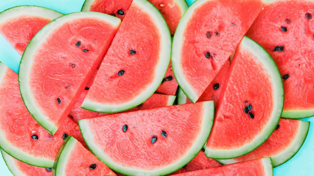 A pile of watermelon slices.