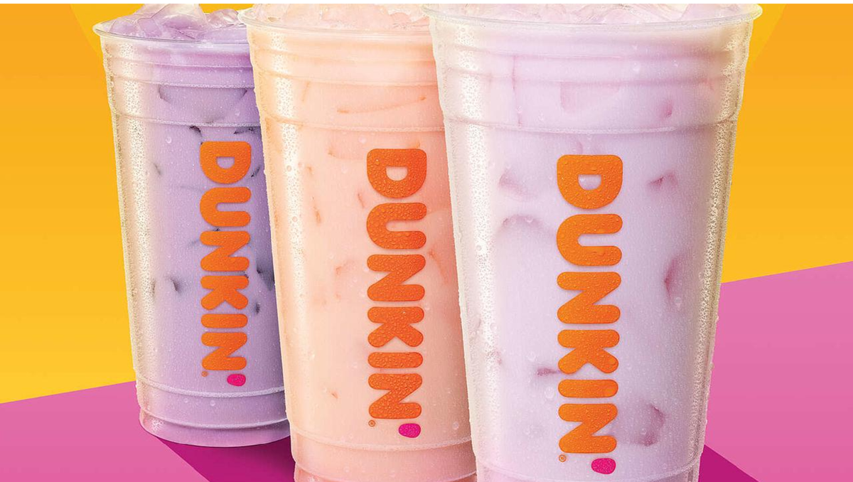 The Purple Pomegranate, Golden Peach, and Pink Strawberry Coconut Refreshers.