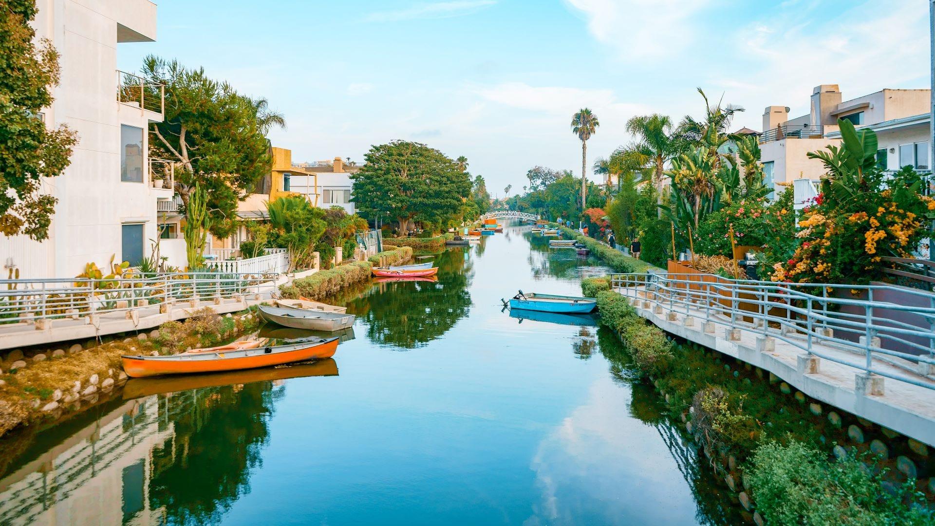 A canal in Venice, California.
