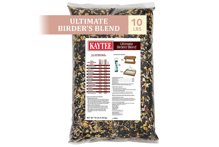 a bag of blended birdseed and nuts