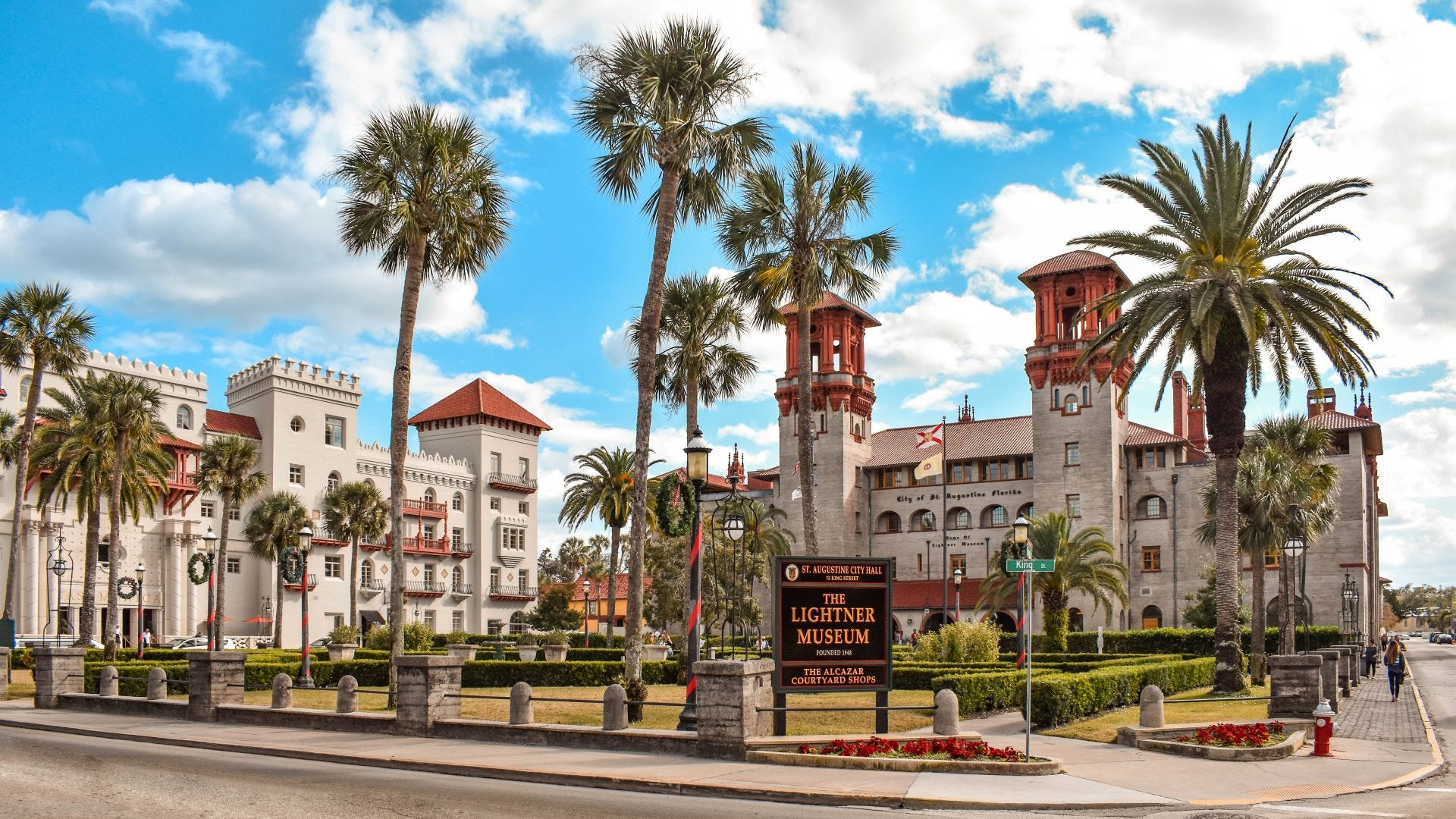 The Casa Monica Hotel and Lightner Museum in St. Augustine.