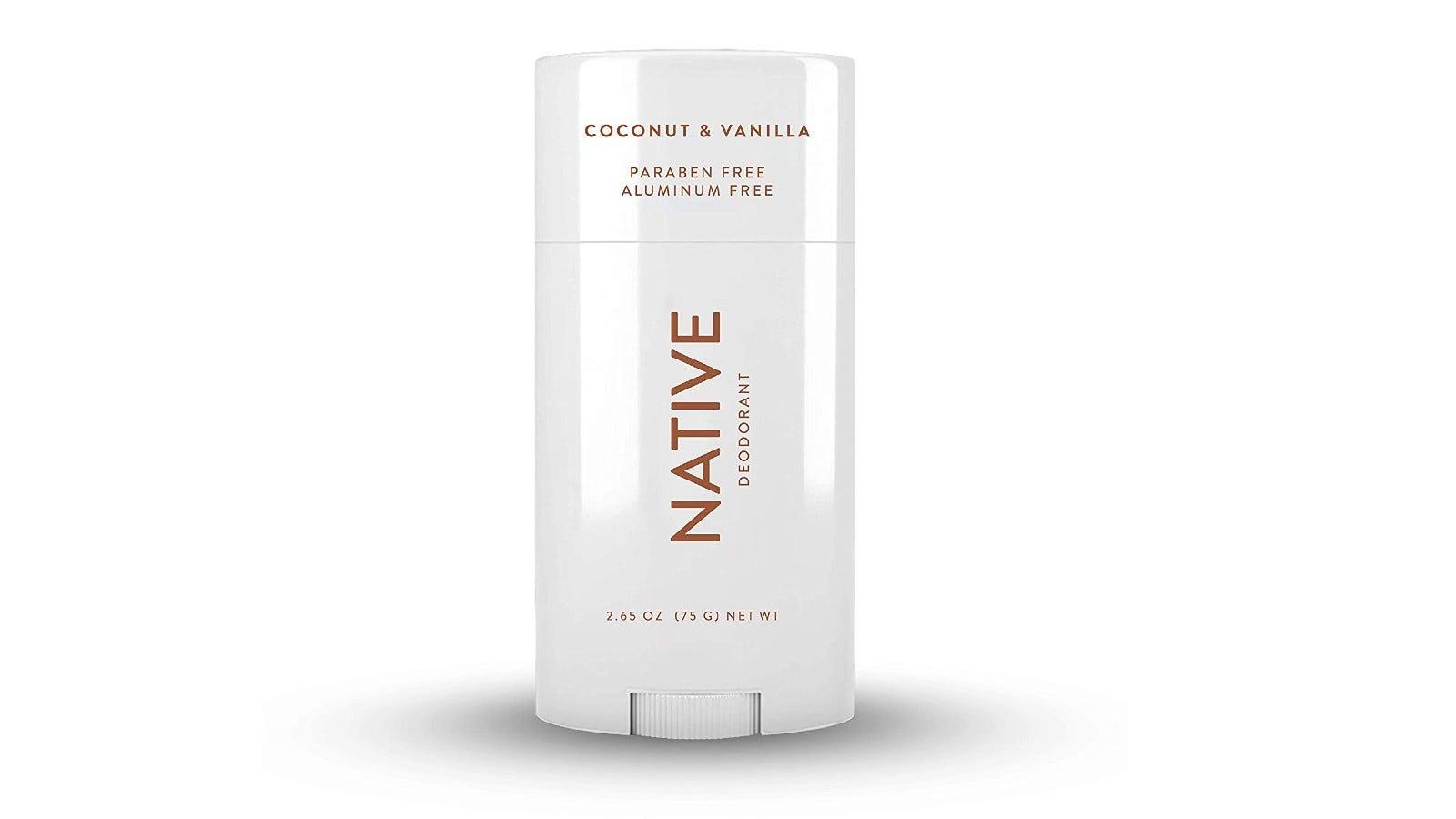 white bottle of Native deodorant