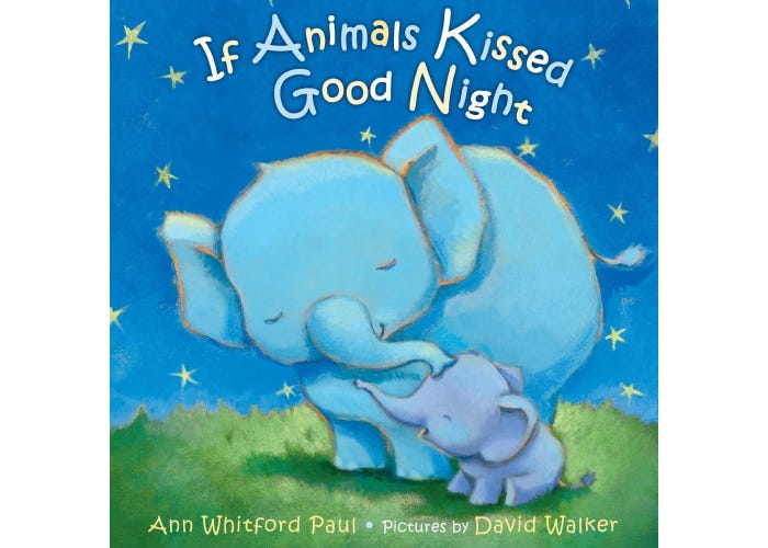 illustrated elephant and baby on cover of book