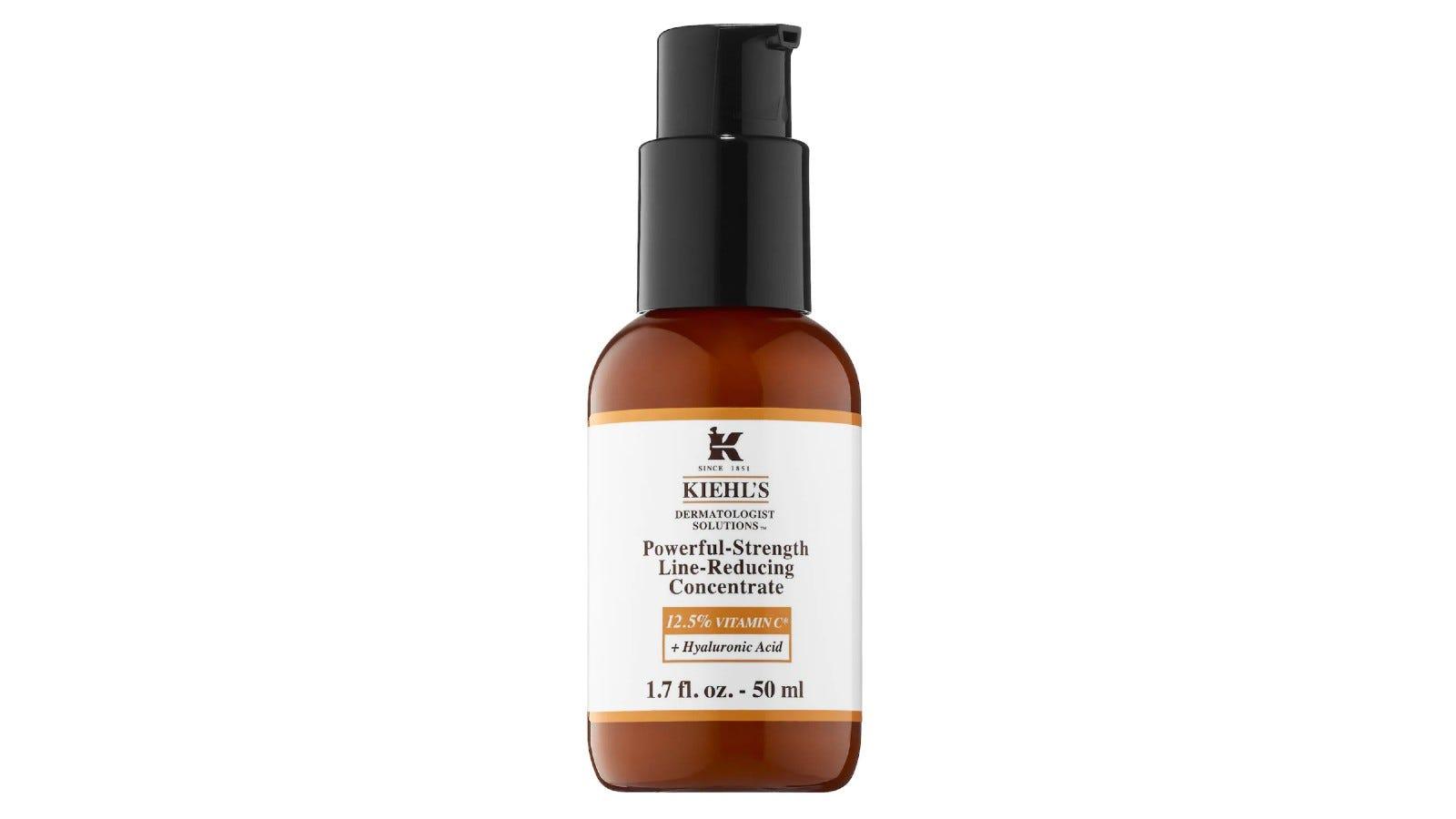 glass bottle of Kiehl's serum