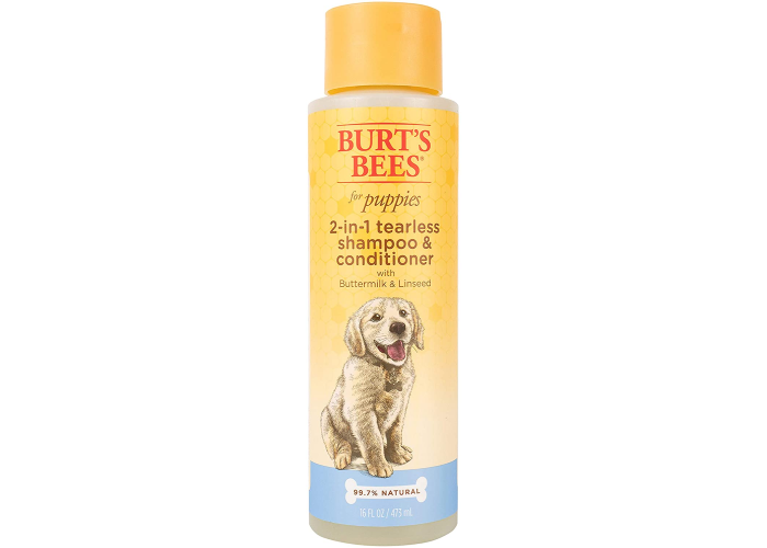 Burt's Bees 2-in-1 tearless shampoo and conditioner for dogs.