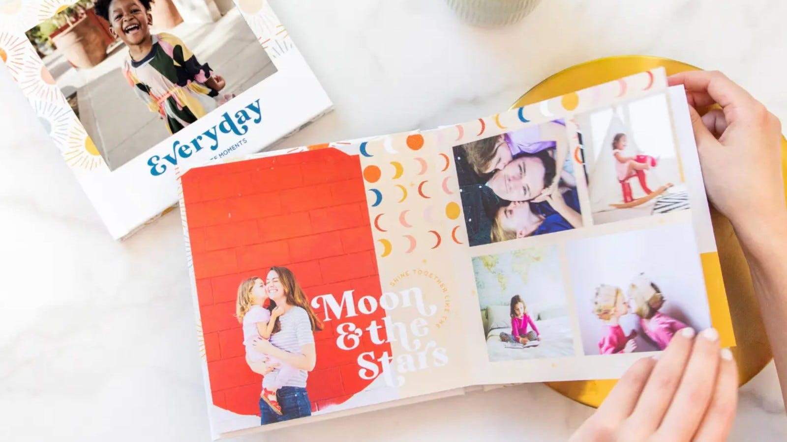 colorful photobook filled with photos