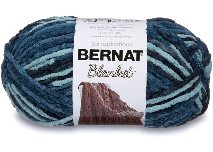 Bernat blanket yarn in multiple colors fo blue