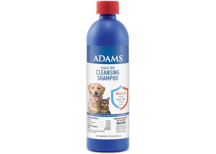 Adams flea and tick cleansing dog shampoo.