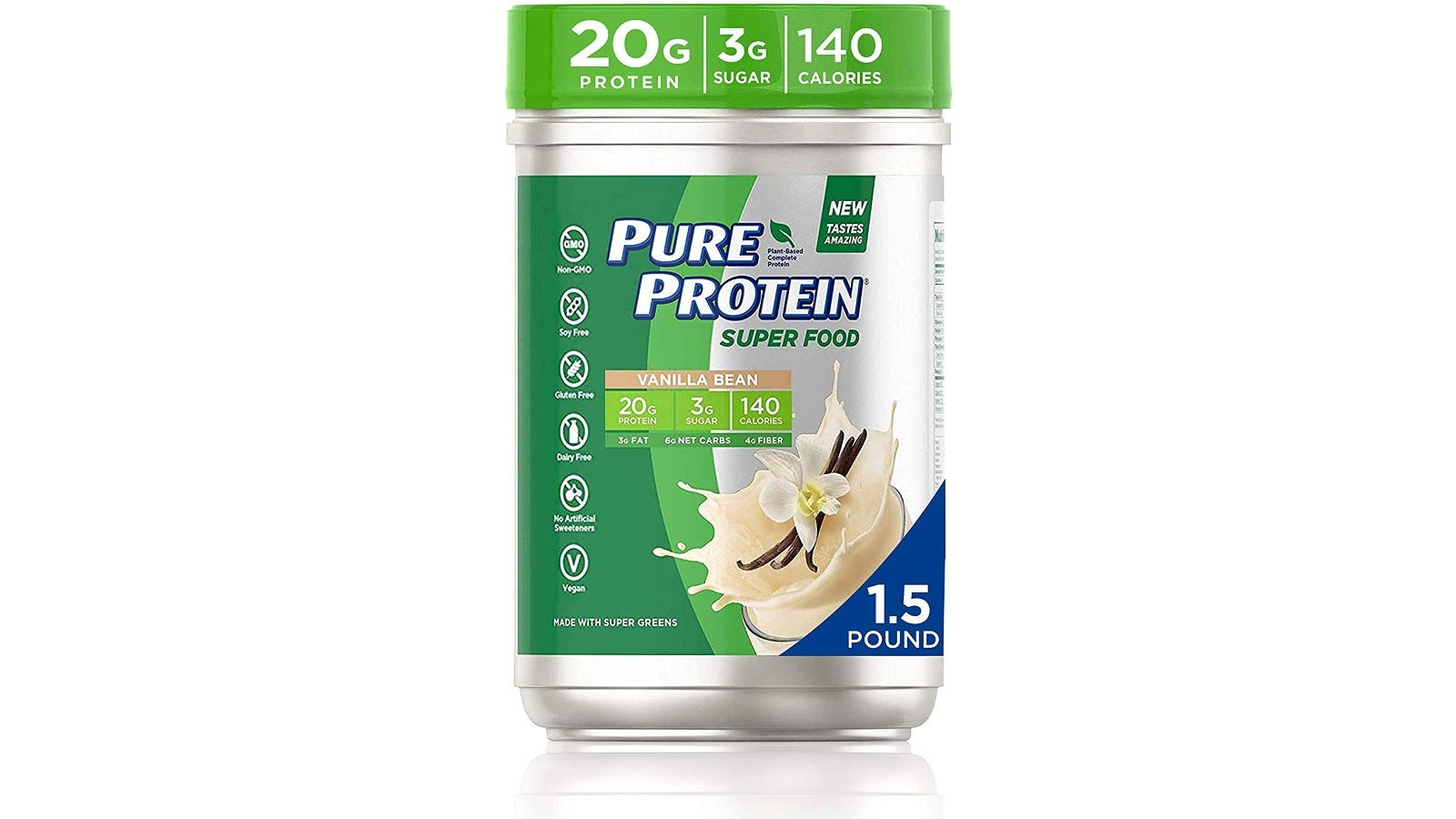 1.5-pound container of Pure Protein superfood powder with 20 grams of pure protein