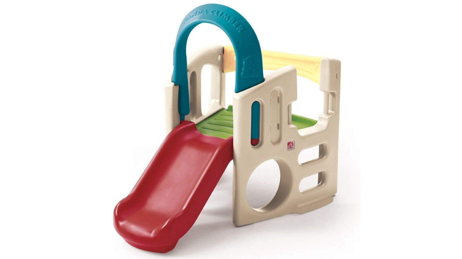 colorful climber with a red slide