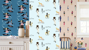 This New Barbie Wallpaper Collection Is Surprisingly Chic