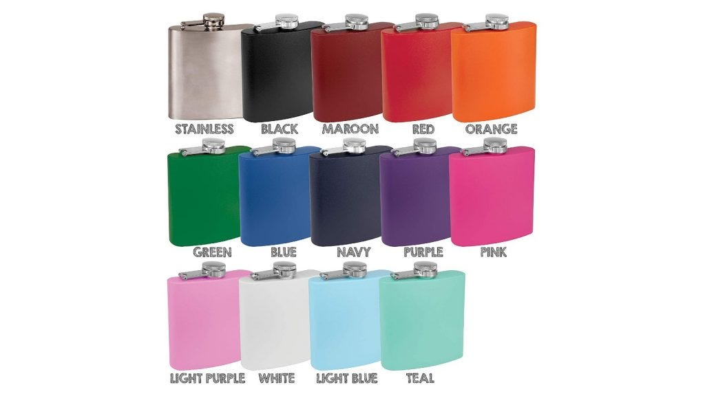 This flask comes with many different color options