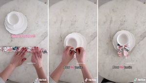 This Napkin Teacup Bow Hack Is Perfect for Your Summer Tablescape