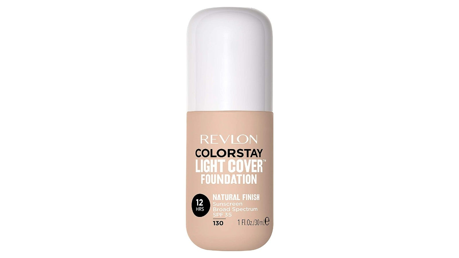 bottle of Revlon Colorstay foundation with white top