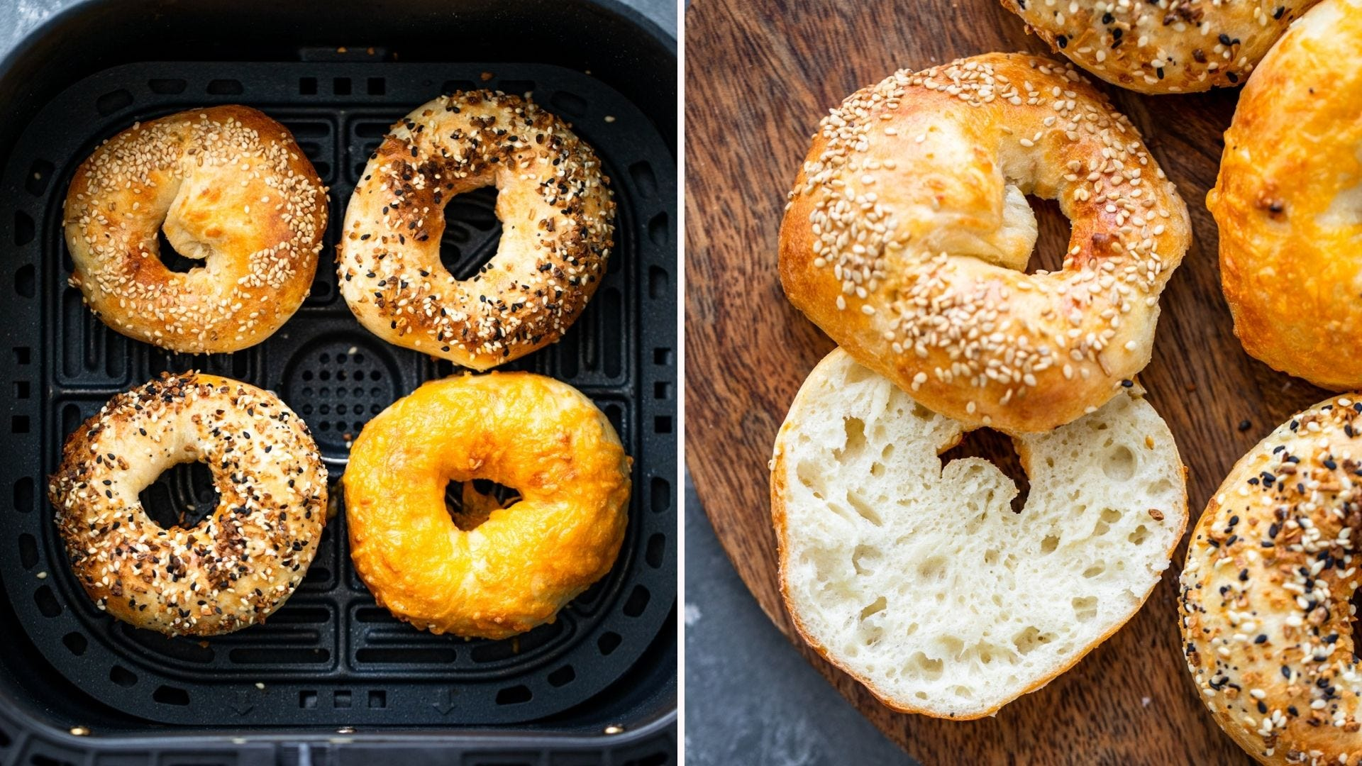 Air Fryer Bagels by Gimme Delicious