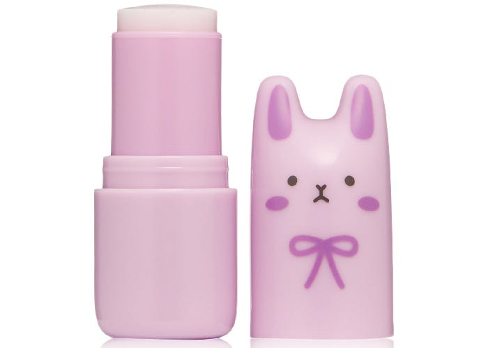 stick of perfume with a pink case shaped like a bunny