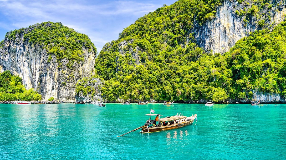 A boat in the ocean in Thailand.