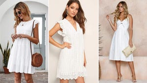 10 Adorable White Dresses to Wear before Labor Day