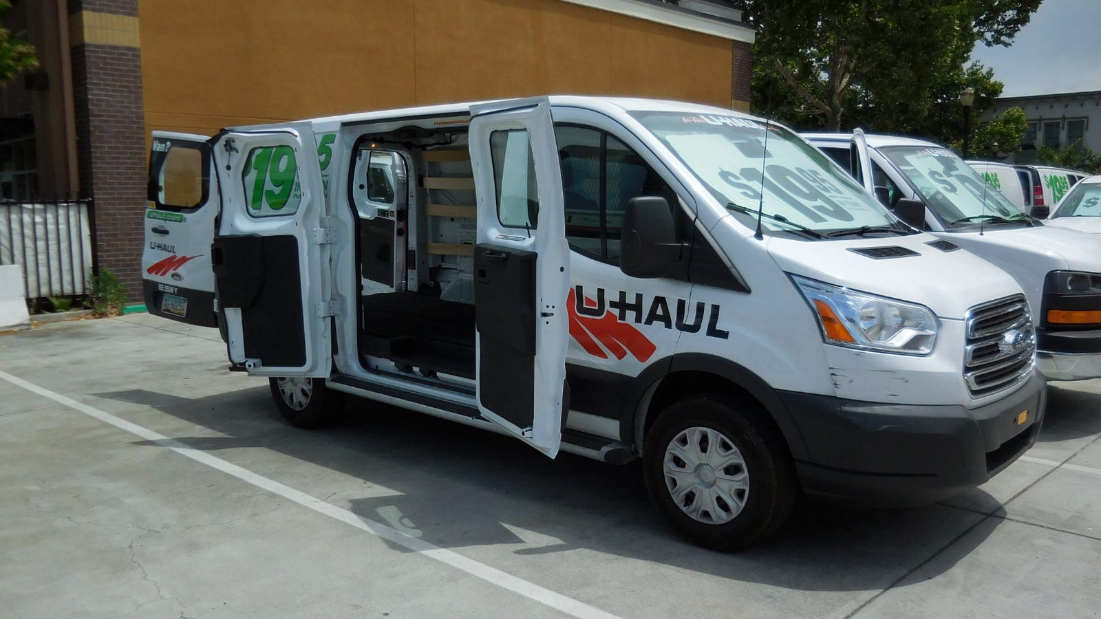 A U-Haul moving van.