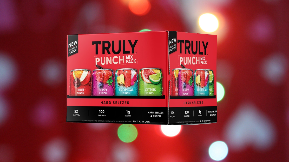 A 12-pack of Truly Punch Hard Seltzer.