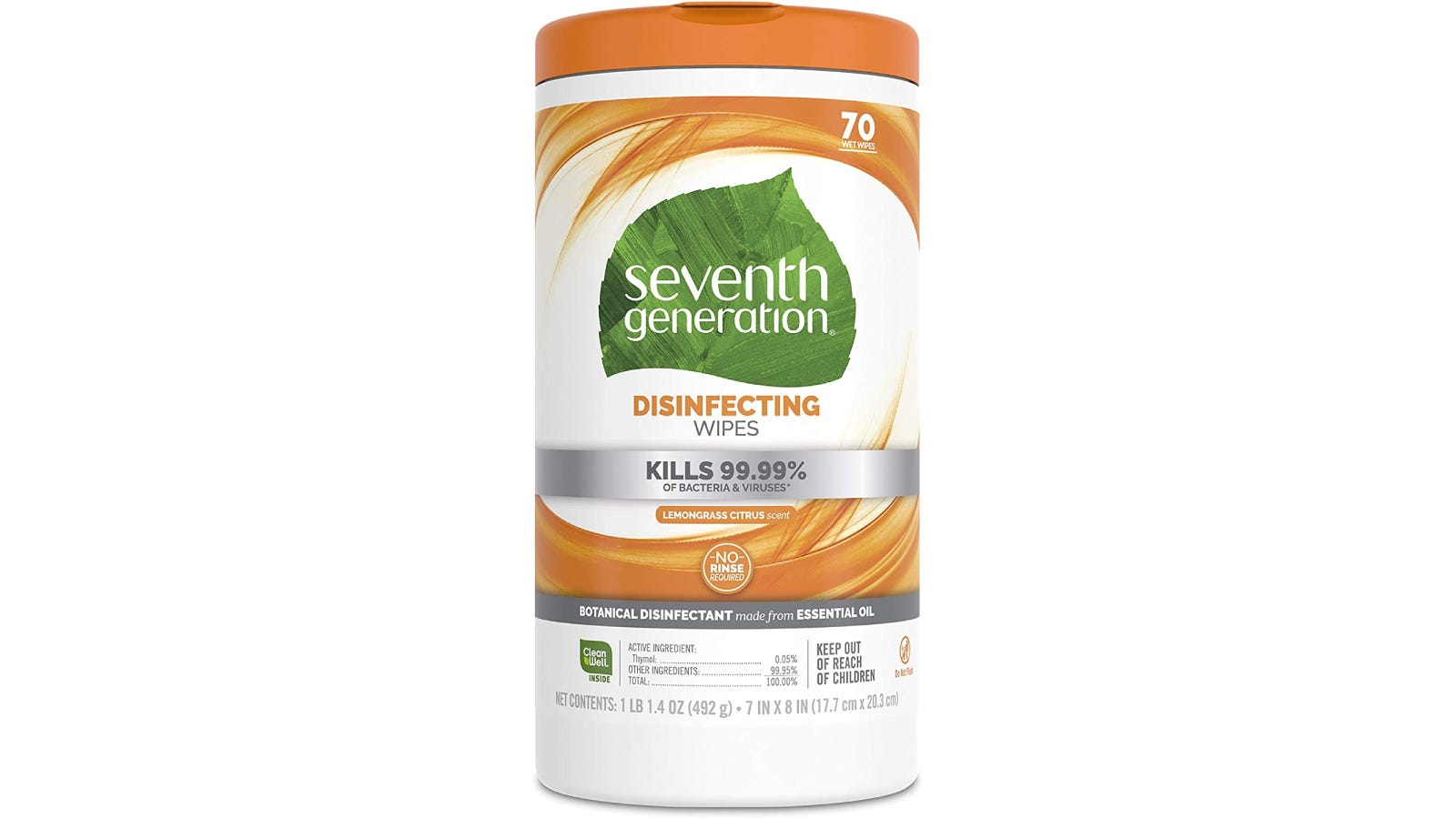 A Seventh Generation wipe container displayed against a white background.