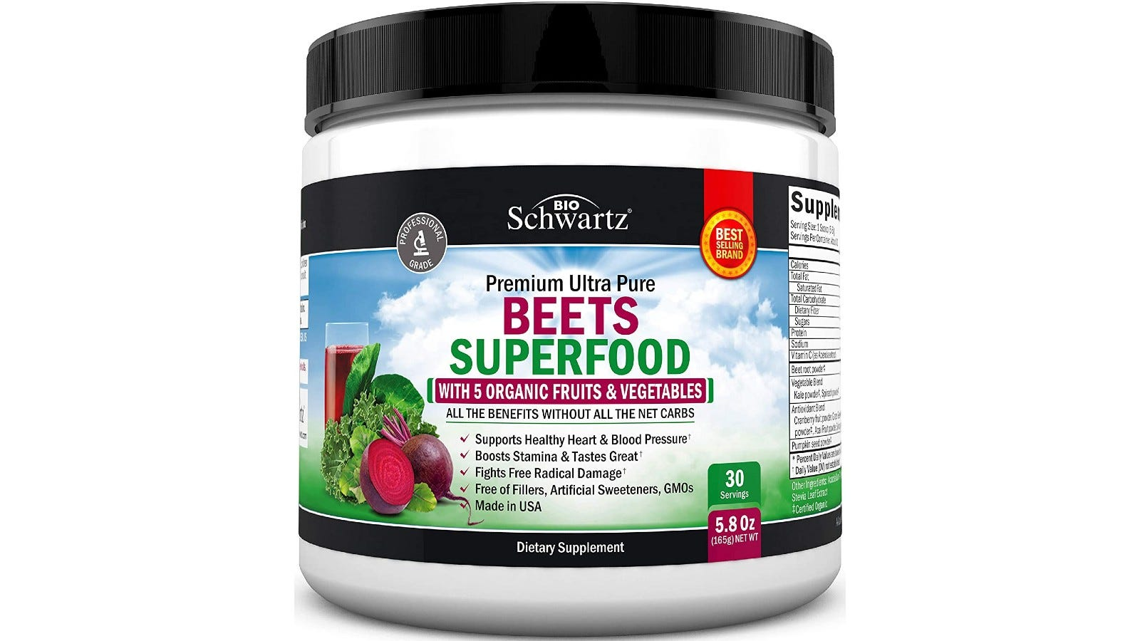 BioSchwartz Beets Superfood powder with organic fruits and vegetables