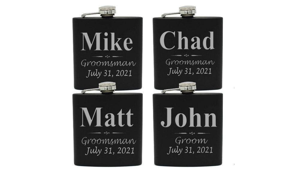You can personalize this flask with an engraving