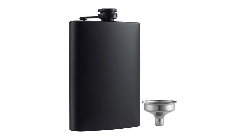 This flask is made of durable stainless steel material