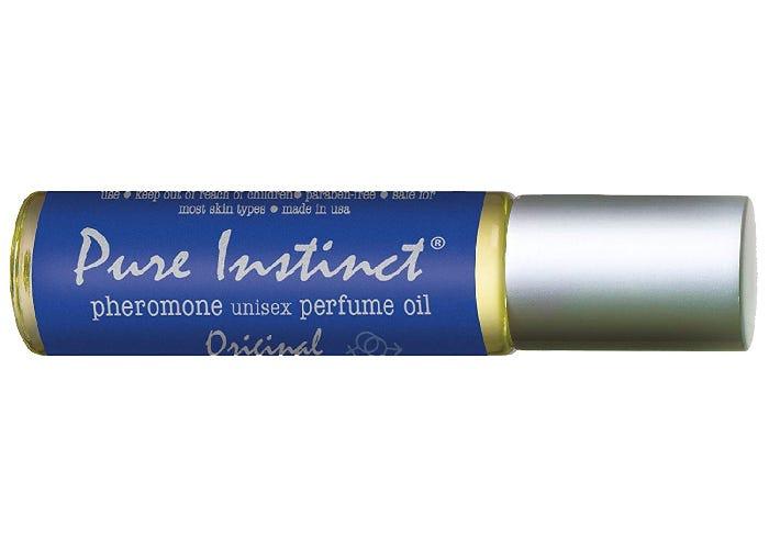 roll-on tube of pheromone infused perfume oil