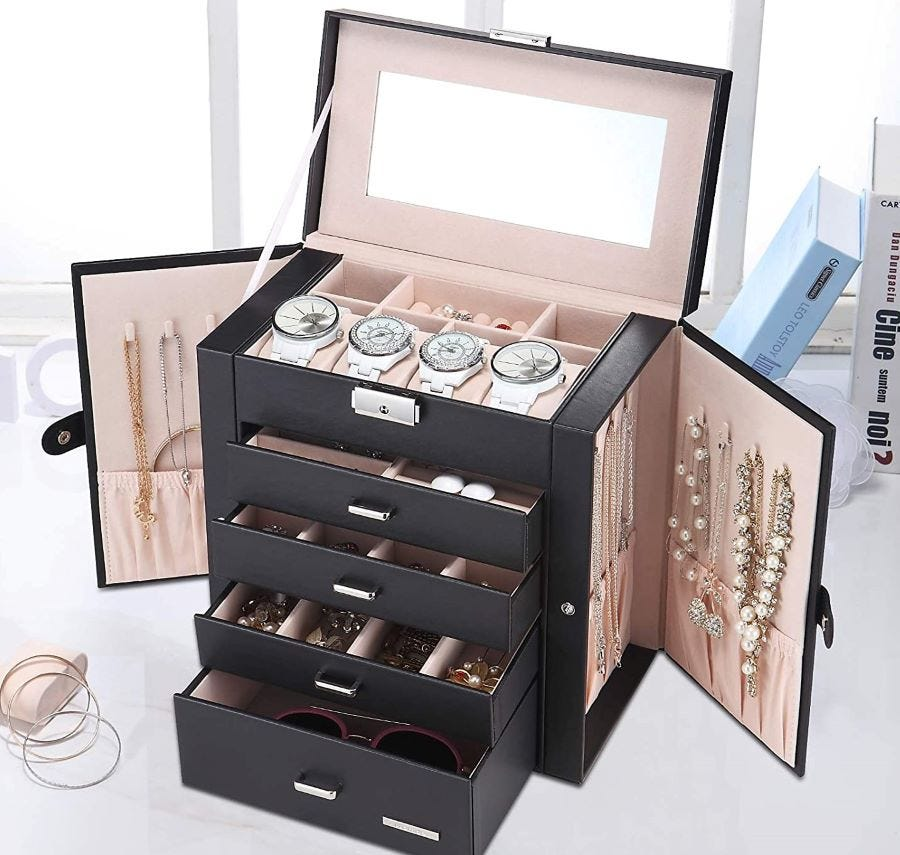 Homde Synthetic Leather Jewelry Box.