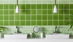 Green Bathrooms? Your Grandma Had One and It's Trendy Again