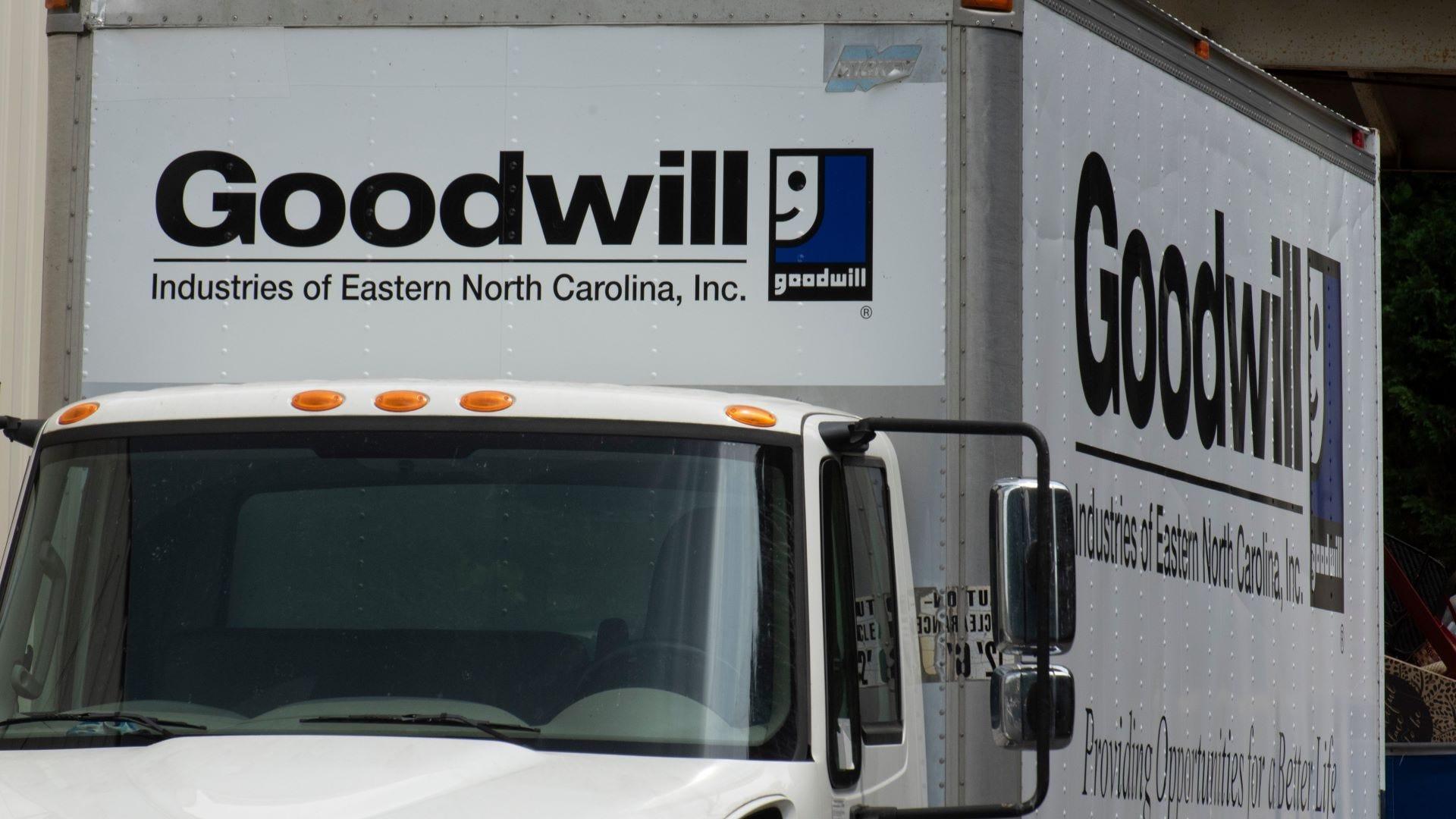A Goodwill truck.
