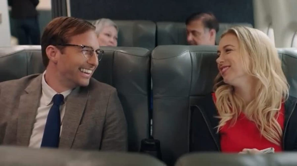 """Ryan Hansen and Iliza Shlesinger in a scene from """"Good on Paper."""""""
