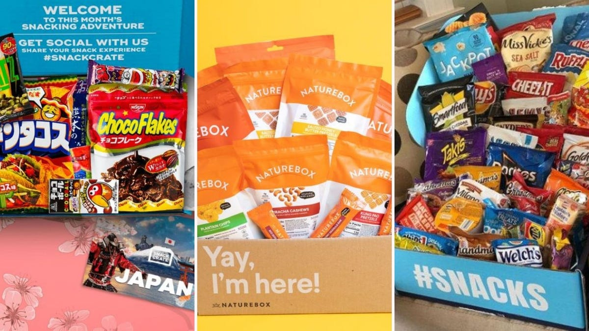 Japanese snacks from SnackCrate, a NatureBox full of snacks, and Variety Fun snack box.